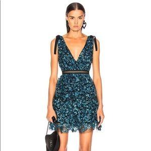 Self-Portrait Tiered Sequin Mini Dress